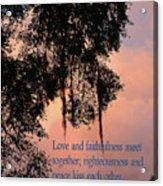 Louisiana Moss In Sunset Ps.85 V 10 Acrylic Print
