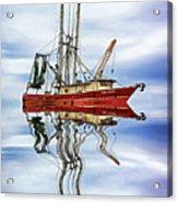 Louisiana Shrimp Boat 4 - Paint Acrylic Print