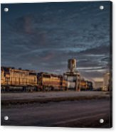 Louisville And Indiana Railroad At Jeffersonville Indiana Acrylic Print