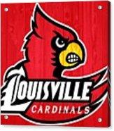 Louisville Cardinals Barn Door Acrylic Print