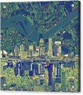 Louisville Kentucky Skyline Abstract 6 Acrylic Print