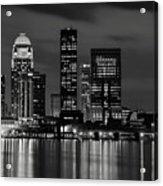 Louisville Skyline At Night 2 Acrylic Print