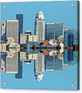 Louisville Skyline Reflection Acrylic Print