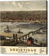 Louisville Vintage Map Acrylic Print