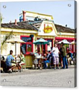 Loulou's On The Commercial Pier In Monterey-california Acrylic Print
