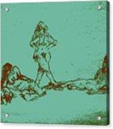 Lounging Nude Females Acrylic Print by Sheri Buchheit