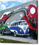 Lou's Filling Station Acrylic Print