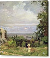 Louveciennes Acrylic Print by Camille Pissarro
