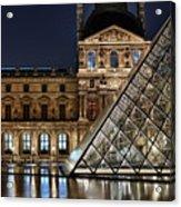 Louvre By Night II Acrylic Print