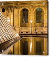 Louvre Courtyard Lamps - Paris Acrylic Print
