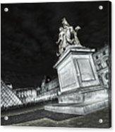 Louvre Museum 7 Art Bw Acrylic Print
