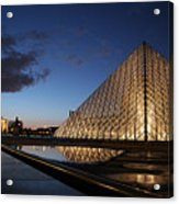 Louvre Puddle Reflection Acrylic Print