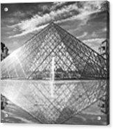 Louvre Pyramid, Paris Acrylic Print