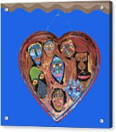 Lovable Funny Faces Acrylic Print