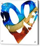 Love 6 - Heart Hearts Valentine's Day Acrylic Print