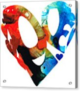 Love 8 - Heart Hearts Romantic Art Acrylic Print