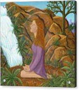 Love And Gratitude Meditation - Illustration #13 In The Infinite Song Acrylic Print