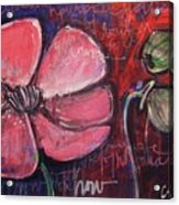Love And Live With Purpose Poppies Acrylic Print