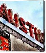 Love #austin Acrylic Print