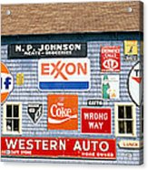 Love Barn With Road Signs, Orland, Maine Acrylic Print