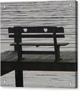 Love Bench Acrylic Print