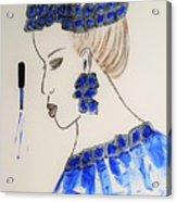 Love Blue Acrylic Print