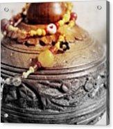 Love Bracelet On Wooden Vase Acrylic Print