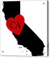 Love California Black Acrylic Print