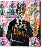 Love Chaplin Acrylic Print