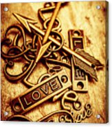 Love Charms In Romantic Signs And Symbols Acrylic Print