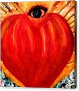 Love Comes From Within Is Forever By V.sisk Acrylic Print
