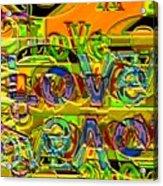 Love Contest Acrylic Print