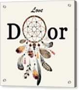 Love Dior Watercolour Dreamcatcher Acrylic Print
