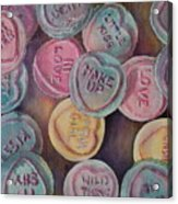 Love Hearts Acrylic Print