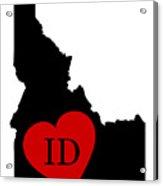 Love Idaho Black Acrylic Print