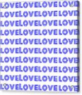 Love In Blue Neon Acrylic Print