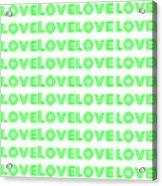 Love In Green Neon Acrylic Print
