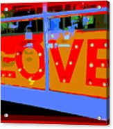 Love  In Lights Acrylic Print