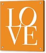 Love In Orange Acrylic Print by Michael Tompsett