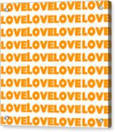 Love In Orange  Acrylic Print