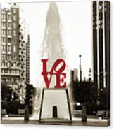 Love In Philadelphia Acrylic Print