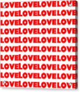 Love In Red Acrylic Print