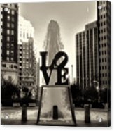 Love In Sepia Acrylic Print
