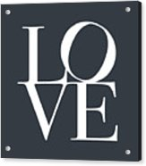 Love In Slate Grey Acrylic Print by Michael Tompsett