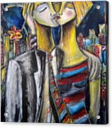 Love In The City Acrylic Print