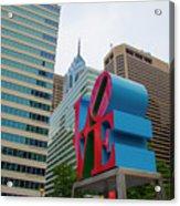 Love In The City - Philadelphia Acrylic Print