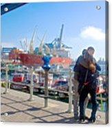 Love In The Port Of Valpaparaiso-chile Acrylic Print