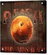 Love Is A Peach Acrylic Print