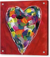 Love Is Colorful - Art By Linda Woods Acrylic Print