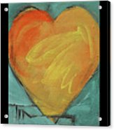 Love Is Just A Word Acrylic Print